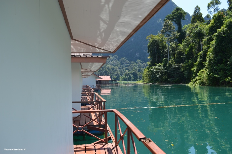 Thailand, floating bungalow